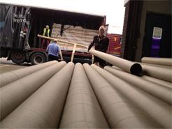 cardboard tubes arrive