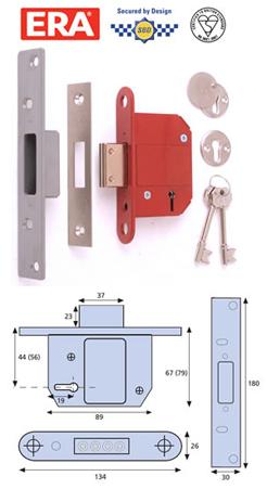 ERA Fortress 5 lever British Standard High Security Mortice Lock