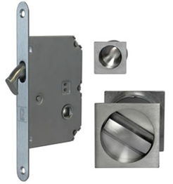 JV829 pocket door bathroom lock