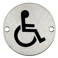 76mm diameter sign disabled pictogram